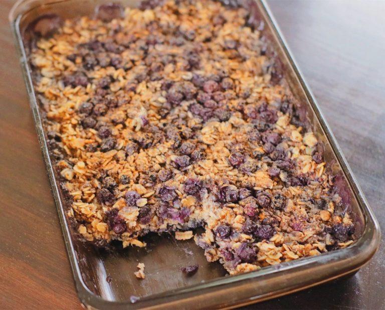 Blueberry baked oatmeal.