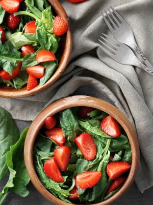 Strawberry Spinach Salad[1]